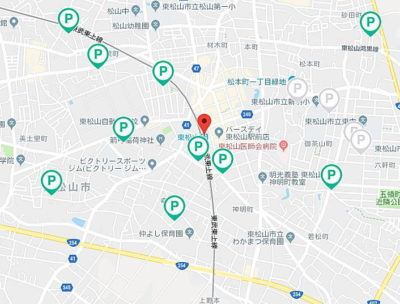 東松山駅周辺の駐車場